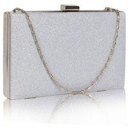 144be19b93a9d Brokatowa torebka wizytowa kopertówka srebrna - srebrny marki Wielka  brytania