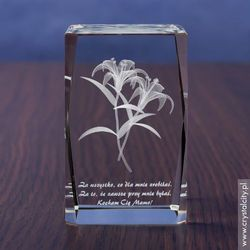 Lilie 3D • personalizowana statuetka 3D średnia • GRAWER 3D
