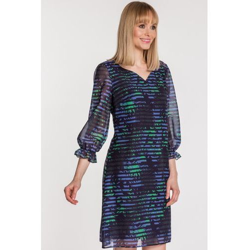d97c991af6 Dwuwarstwowa sukienka z dekoltem w serek - Trynite