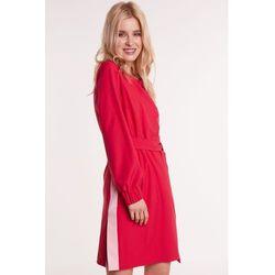3d0040a9d855d1 Malinowa sukienka z lampasami, kolor różowy