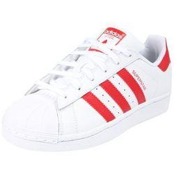 faf0b0a7 ADIDAS ORIGINALS Trampki 'SUPERSTAR J' czerwony / biały, kolor biały