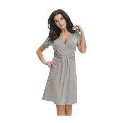 356ceeb975a258 Bambusowa koszula nocna ciążowa i do karmienia dn - dark grey marki Dn -  doctor nap