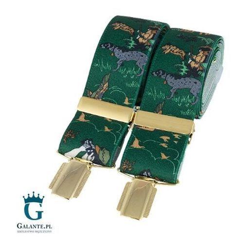 Zielone szelki do spodni polowanie br-025 marki David aster - made in england