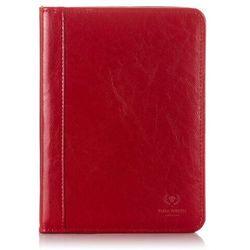Paolo peruzzi Biwuar skórzany na dokumenty czerwony