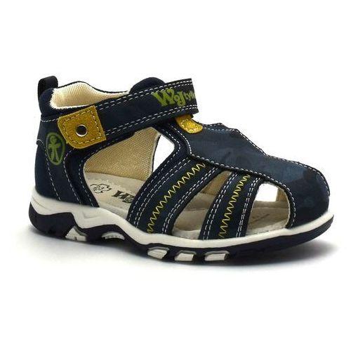 Zabudowane sandały dla dzieci Wojtyłko 41121