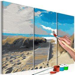 Obraz do samodzielnego malowania - plaża (błękitne niebo) marki Artgeist