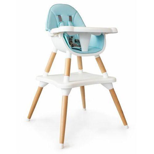 Fotelik, krzesełko do karmienia, stół i krzesło, 2w1, niebieski