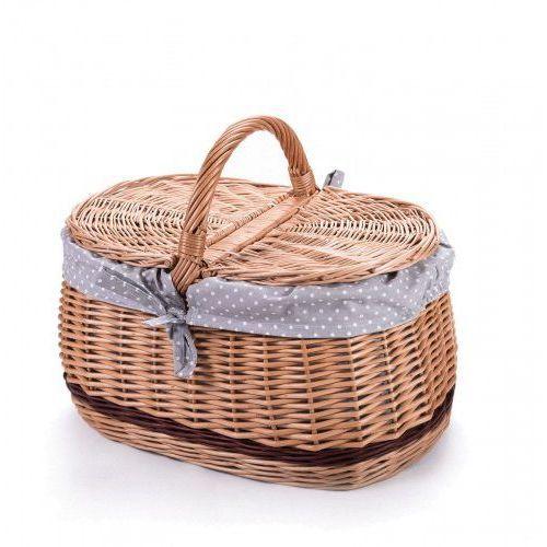 Wiklinowy kosz piknikowy samochodowy bagażowy, na piknik, z obszyciem, 1603-k00