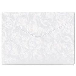 Koperty ozdobne GALERIA PAPIERU C6 op.10 Białe róże 120g.