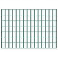 vidaXL Panele ogrodzeniowe 2D z słupkami 2008x1430 mm 34 m Zielone Darmowa wysyłka i zwroty