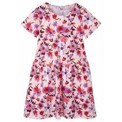 Sukienka dziewczęca z dżerseju z bawełny organicznej bonprix pastelowy jasnoróżowy