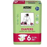 Pieluchy jednorazowe, MUUMI Baby Pieluchy 6 Junior 36szt pieluszki hipoalergiczne i ekologiczne (12-24kg)