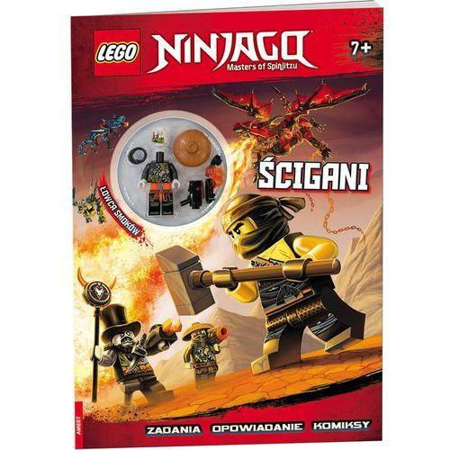Książki dla dzieci, Lego Ninjago Ścigani - Praca zbiorowa (opr. broszurowa)