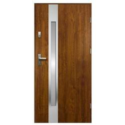 Drzwi zewnętrzne O.K. Doors Arctica 90 prawe złoty dąb