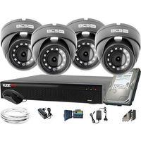Zestawy monitoringowe, 1920x1080 FullHD 4x BCS-B-MK22800 BCS Basic zestaw do monitoringu Dysk 1TB Akcesoria