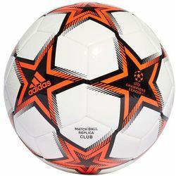 Piłka nożna adidas UCL Club Pyrostorm Ball biało-pomarańczowa GT7789