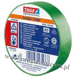 Taśma izolacyjna Tesa PCV 53988 19mm x 20m w folii zielona