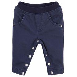 Spodnie niemowlęce ocieplane bonprix ciemnoniebieski
