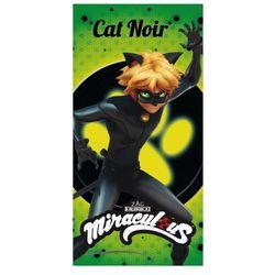 Ręcznik plażowy / kąpielowy Miraculum: Biedronka i Czarny Kot