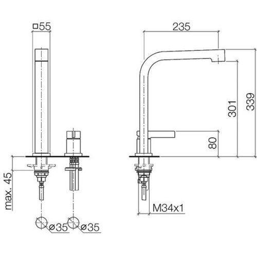 Baterie do kuchni, Bateria Dornbracht Maro 32800795-00