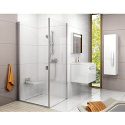 Ravak Chrome drzwi 100x ścianka 90 cm CRV1+CPS, wys. 195 cm, Polerowane aluminium+Transparent 1QVA0C01Z1/9QV70C00Z1
