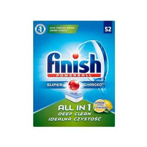 Kostki do zmywarek, FINISH 52szt Powerball All in 1 Lemon Tabletki do zmywarki