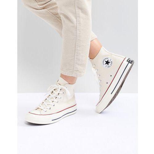 Damskie obuwie sportowe, Converse Chuck '70 Hi Trainers In Cream - Cream