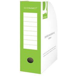 Pojemnik na dokumenty Q-CONNECT, karton, otwarte, A4/100mm, zielone
