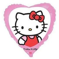 Balony, Balon foliowy serce Hello Kitty - 46 cm - 1 szt.