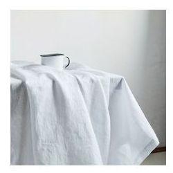 """obrus lniany, zmiękczany - """"Unicolor"""" biały"""