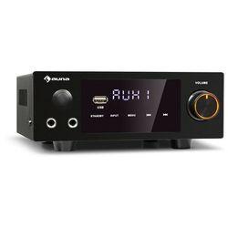 Auna AMP-2 DG, wzmacniacz stereo Hi-Fi, 2 x 50W RMS, BT/USB, cyfrowe wejście optyczne i koncentryczne