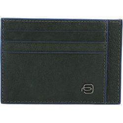 Piquadro Square Special Etui na karty bankowe RFID skórzana 11 cm green ZAPISZ SIĘ DO NASZEGO NEWSLETTERA, A OTRZYMASZ VOUCHER Z 15% ZNIŻKĄ