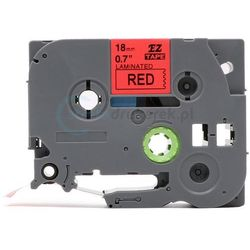 Taśma do brother tze-441 czerwone tło/czarny nadruk 18mm x 8m zamienni
