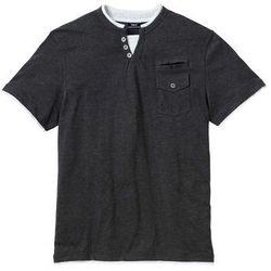 T-shirt z kieszonką bonprix antracytowy melanż