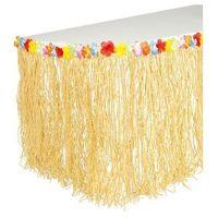 Pozostałe wyposażenie domu, Hawajska dekoracja stołu, słomkowa trawa z kwiatami