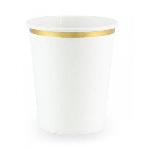 Kubeczki dla dzieci, Kubeczki białe ze złotą obwódką