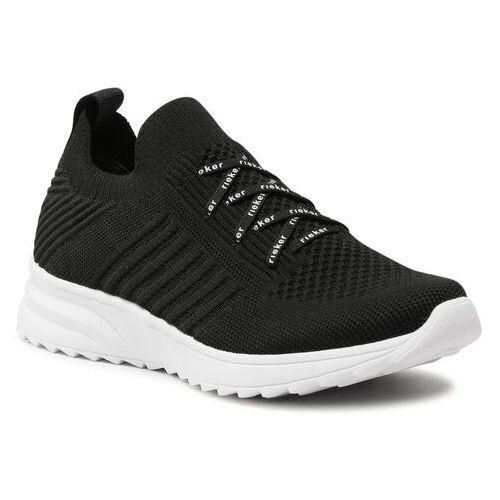 Damskie obuwie sportowe, Sneakersy RIEKER - N6663-00 Schwarz