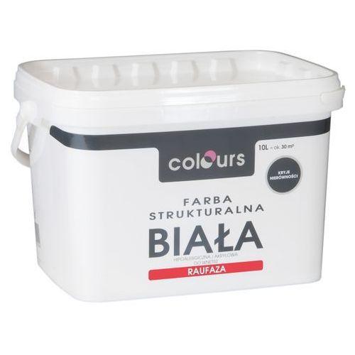 Farby, Farba strukturalna Colours Raufaza biały 10 l