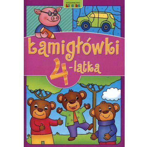 Książki dla dzieci, Łamigłówki 4-latka - Praca zbiorowa OD 24,99zł DARMOWA DOSTAWA KIOSK RUCHU (opr. miękka)