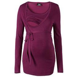 Sweter ciążowy i do karmienia bonprix jeżynowy