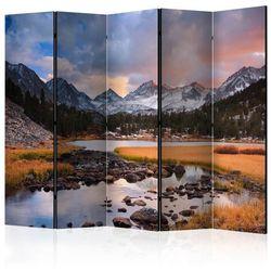 Parawan 5-częściowy - Krajobraz górski - nadchodząca wiosna II [Room Dividers]
