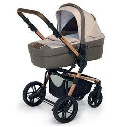 Wózek 3w1 Foppapedretti Iwood Tend Brązowy Melanż