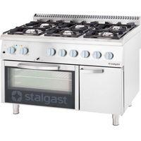 Piece i płyty grzejne gastronomiczne, Kuchnia gazowa 36,5 kW z piekarnikiem gazowym GN 2/1 STALGAST 9711230