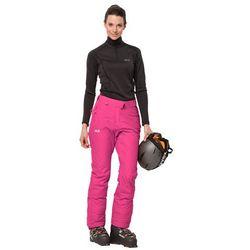 Spodnie narciarskie damskie POWDER MOUNTAIN PANTS W pink fuchsia - 38