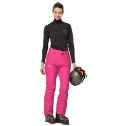 Spodnie narciarskie damskie POWDER MOUNTAIN PANTS W pink fuchsia - 46