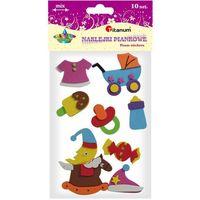 Naklejki, Naklejki piankowe: zestaw BABY, mix wzorów, rozmiarów i kolorów