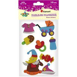 Naklejki piankowe: zestaw BABY, mix wzorów, rozmiarów i kolorów