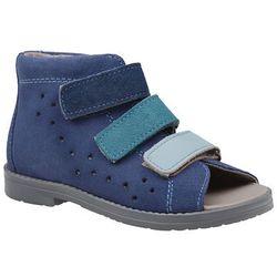 Sandałki Profilaktyczne Ortopedyczne Buty DAWID 1042 Niebieskie GJNP - Niebieski ||Granatowy