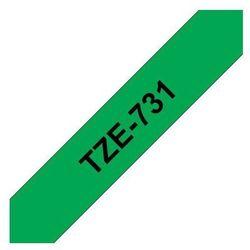 BROTHER Taśmy do drukarek TZ laminowane 12mm x 8m, czarny/zielony