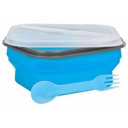 Lunch Box MPM Smile Sls-2 Silikonowy 600 ml Niebieski + Zamów z DOSTAWĄ JUTRO!
